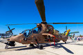 Eurocopter ec tiger albacete spain jun helicopter taking part in a static exhibition on the open day of the airbase of los llanos Stock Image