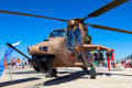 Eurocopter ec tiger albacete spain jun helicopter taking part in a static exhibition on the open day of the airbase of los llanos Stock Images