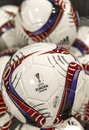 Europa league balls Royalty Free Stock Photo