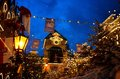Europa Park entrance in Christmas spirit by night Royalty Free Stock Photo