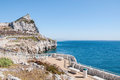 Europa point on gibraltar summit of the rock of seen from Royalty Free Stock Photos