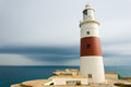 Europa point lighthouse stands at the southern most point of gibraltar situated at the gateway between the atlantic and the Stock Images