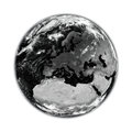Europe on black earth planet isolated white background elements of this image furnished by nasa Stock Image