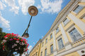 Europe building and street lamp Royalty Free Stock Photo