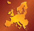Europe eu map with country borders abstract Royalty Free Stock Photography