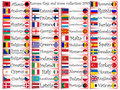 Europe flags and icons collection Royalty Free Stock Image