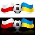 Europe on football Twenty-Twelve Royalty Free Stock Photo
