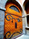 Europe, France, Auvergne Rhone Alpes, Lyon, door of buildings and traboule Royalty Free Stock Photo