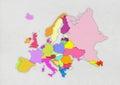 Europe map Royalty Free Stock Photo