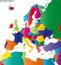 Europe map Royalty Free Stock Photo