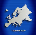 Europe map blue line d template Stock Image