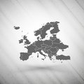Europe map on gray background, grunge texture