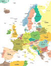 Europe - map - illustration.