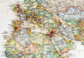 Europe & Middle East Map with Map Tacks Royalty Free Stock Photo