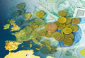 Europe and money Stock Image