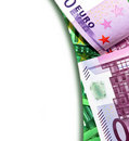 Europe money background Royalty Free Stock Photo