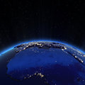 Europe and north africa city lights at night elements of this image furnished by nasa Stock Photography