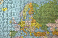 Europe puzzle Royalty Free Stock Photo