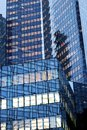 window glass facades office building  in Paris  La defense business district france Royalty Free Stock Photo