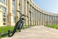 Europe Square with bike in Montpellier Royalty Free Stock Photo