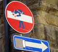 Europe Stop Sign With Graffiti