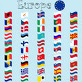 Europe stylized flags Stock Images