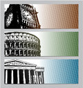 Europe travel banners illustration eps Stock Photography