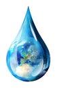 Europe in water drop