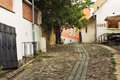 European alley, Szentendre Hungary Royalty Free Stock Photos