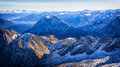 European alps in winter zugspitze Stock Images