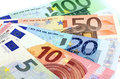 European banknotes euro currency from europe euros Royalty Free Stock Photography