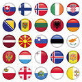 European buttons round flags zip includes dpi jpg illustrator cs eps vector with transparency Stock Photography