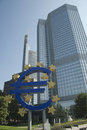 European Central Bank (ECB) in Frankfurt city. Royalty Free Stock Photography