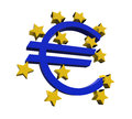 European central bank symbol isolated on white background d render Royalty Free Stock Photos