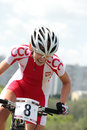 European Championships in mountain bike Stock Images