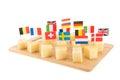European cheese cubes Royalty Free Stock Photo
