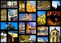 European city in collage Stock Photography