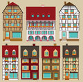 European city houses vector illustration of historical Stock Image