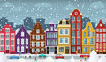 European city illustration vector of street amsterdam Stock Photo