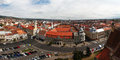European city scape panoramic aerial view of cluj napoca romania an Stock Photo