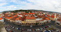 European city view panoramic aerial of cluj napoca romania an Royalty Free Stock Photography