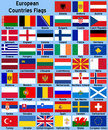 European Countries Flags Royalty Free Stock Photo