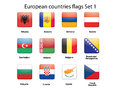 European countries flags set 1 Royalty Free Stock Photo