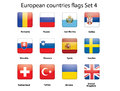 European countries flags set 4 Royalty Free Stock Photo