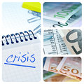 European crisis collage Stock Images