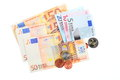 European currency euro banknotes isolated on white background Stock Images
