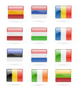 European flag buttons Royalty Free Stock Photo