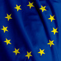 European Flag Closeup Stock Photos