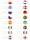 European flag tabs Royalty Free Stock Images