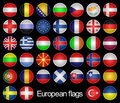 European flags. Royalty Free Stock Image